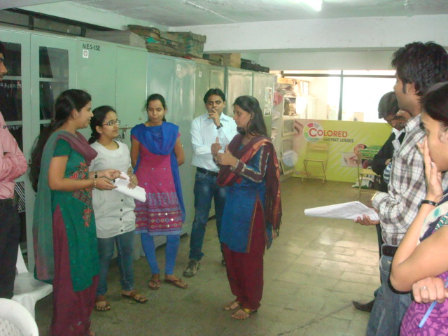 INTERACTING WITH OPTOMETRY STUDENTS-NASHIK
