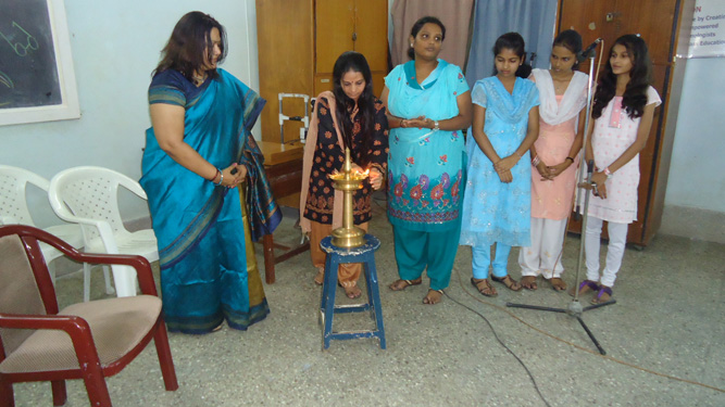 LIGHTING LAMP ON WORLD OPTOMETRY DAY CELEBRATION AT SNDT-PVP