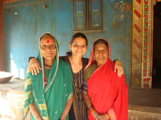 WITH SENIOR HOUSEHOLD LADIES FORM THE VILLAGE