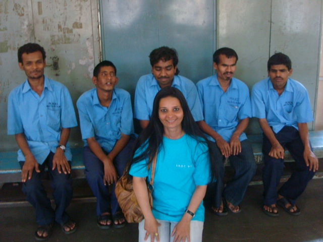 WITH VISUALLY IMPAIRED INMATES AT BLIND HOME