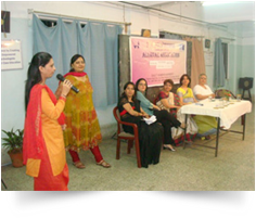 Welcome speech as a (co-operate) executive member of alumnae association of PVP-SNDT ON 21-01-2012. As a Chief Guest on Annual day celebration of PVP (SNDT) at patkar hall on 9th Feb 2012. (2)