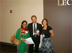 WITH LEONARD MESSNER AND SANDRA BLOCK -ILLINOIS COLLEGE OF OPTOMETRY