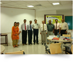 With Manipal University vice chancellor and his team members for the 2nd pedagogic and personal effectiveness workshop for the faculty at 16-11-2011